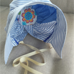 Upcycled Vintage Bonnet Sun Hat Size 6 - 24 Months ☆ One Off ☆ Ready to send ☆