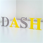Wooden 6cm Wall or Door Letters. 4 letters.
