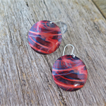 GALACTIC DYE SUBLIMATION, GRAPHIC PRINTED EARRINGS