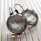 Alice in Wonderland jewellery- White Rabbit -Lewis Carroll - glass dome earrings