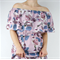 Off shoulder womens maxi dress, full length floral maxi in sizes 8-16