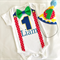 Circus Theme Primary Colors Baby Boys First Birthday Party Hat & Onesie
