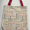 Christmas Tote/Gift bag featuring Christmas word fabric