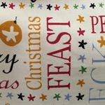 Christmas Tote/Gift bag featuring Christmas word fabric