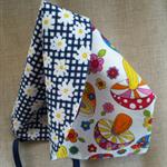 Retro Reversible Sun Bonnet / Hat Size 3 - 12 months ☆ One Off ☆ Ready to Send