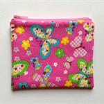 Pink Butterfly Purse