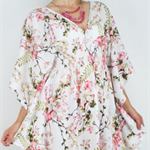 Floral Kaftan Dress, Womens rayon beach dress size 6-16