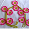 Flower bunting (crocheted)