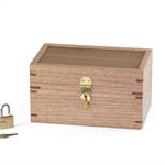 Small lockable wooden gift box, trinket box, keepsake box, or memory box