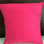"Cushion cover (single) Pink with Laura Blythman ""In the Clods"" fabric"