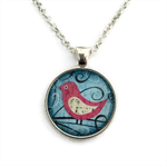 Pink Bird |  makes the perfect gift | silver or bronze | CB002