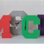 WOODEN LETTER CLOCKS - 