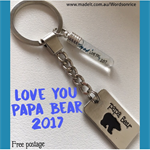 LOVE YOU 2017 - Papa Bear keyring