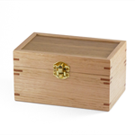 Small wooden gift box, trinket box, keepsake box, or memory box