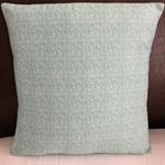 Cushion cover 35cm x 35cm Aqua print, coordinates with Laura Blythman pillowcase