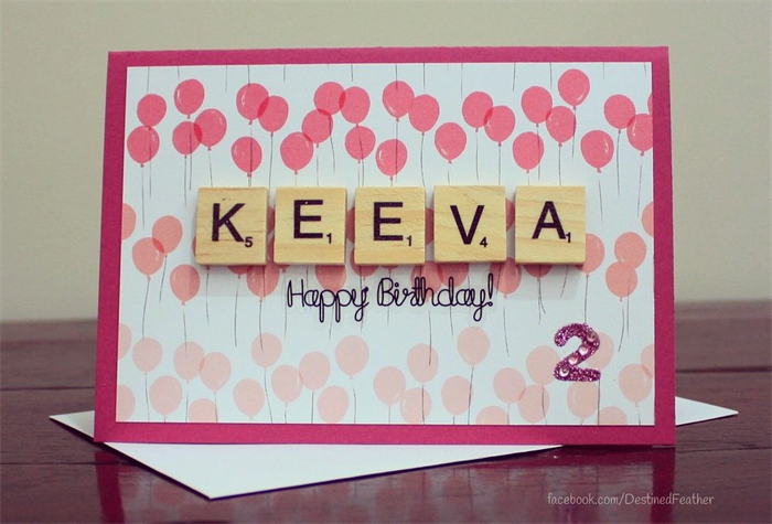 Birthday card personalised happy birthday girl child kids birthday card personalised happy birthday girl child kids scrabble letters bookmarktalkfo Images