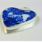 Blue and White Heart Pendant ~ Unique Broken China Jewelry