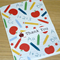 Teacher Thank you card - with red apple