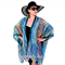 Plus Size Teal Silk Kimono Cover up