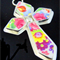 Pink Floral Cross Pendant ~ Broken China Jewelry
