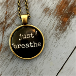 just breathe | quote necklace | inspiration | INS003black