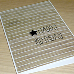 Male Happy Birthday card - timber