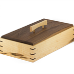 Elegant Wooden Keepsake Box made from Rock Maple and Black Walnut timbers