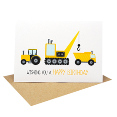 Birthday Boy Card - Happy Birthday - Construction Time - HBC218