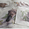 Echidna Tea Towel, Australian wildlife illustration, Short-beaked Echidna ants