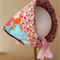 Retro Reversible Sun Bonnet / Hat Size 3 - 18 months ☆ One Off ☆ Ready to Send