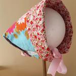 Retro Reversible Sun Bonnet / Hat Size 3 - 18 months ☆ One Off ☆ Ready to Send
