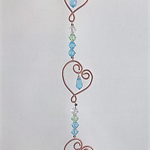 Crystal sun catcher, hearts light catcher