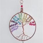 Chakra tree of life, suncatcher