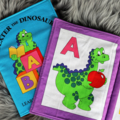 ABC Fabric Book: Dexter the Dinosaur learns all about letters!