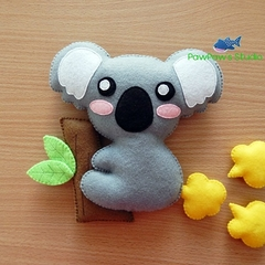 Koala Fridge Magnet Plush Kawaii Home Decor Nursery Gift