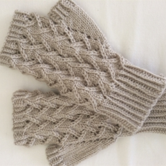Ladies large fingerless gloves