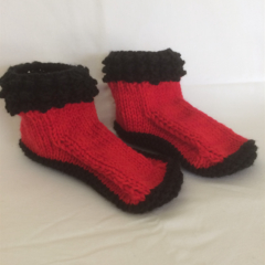 Hand knitted socks/slippers