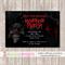 Spooky Horror Birthday Invitation - YOU PRINT