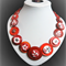 Beaut Buttons - Red Robin button necklace