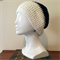 Black and White Crochet Slouchie Beanie - Unisex - Acrylic - Soft - Vegan
