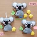 Koala Fridge Magnet Plush Kawaii Home Decor Nursery Gift