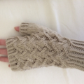 Ladies large fingerless gloves