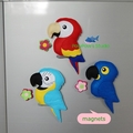 Macaw / Macaw Magnet / Parrot / Macaw Toy / Macaw Home Decor