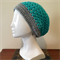 Chunky Blue and Grey Crochet Slouchie Beanie - Unisex - Acrylic - Soft - Vegan