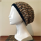 Tan and Black Crochet Slouchie Beanie - Unisex - Acrylic - Vegan