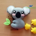 Koala Fridge Magnet Plush Kawaii Home Decor Nursery