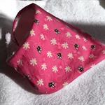 Bright pink baby bandana bib