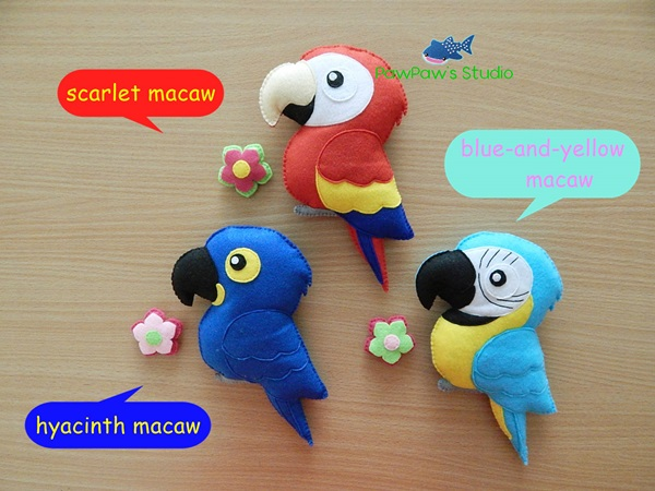 Macaw Magnet Parrot Toy Home Decor