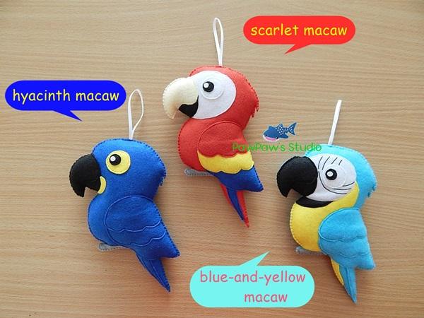 Macaw Ornament Parrot Home Decor