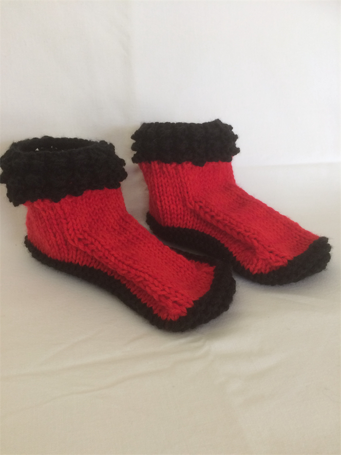 f763fa15cdd54 Hand knitted socks/slippers | Just 4 You | madeit.com.au
